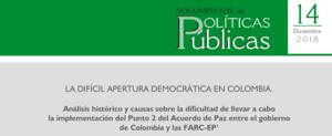 14. «La difícil apertura democrática en Colombia. Análisis histórico y causas sobre la dificultad de llevar a cabo la implementación del Punto 2 del Acuerdo de Paz entre el gobierno de Colombia y las FARC-EP»